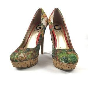 Guess GGWinna2 Floral Stiletto Platform Pumps 6.5